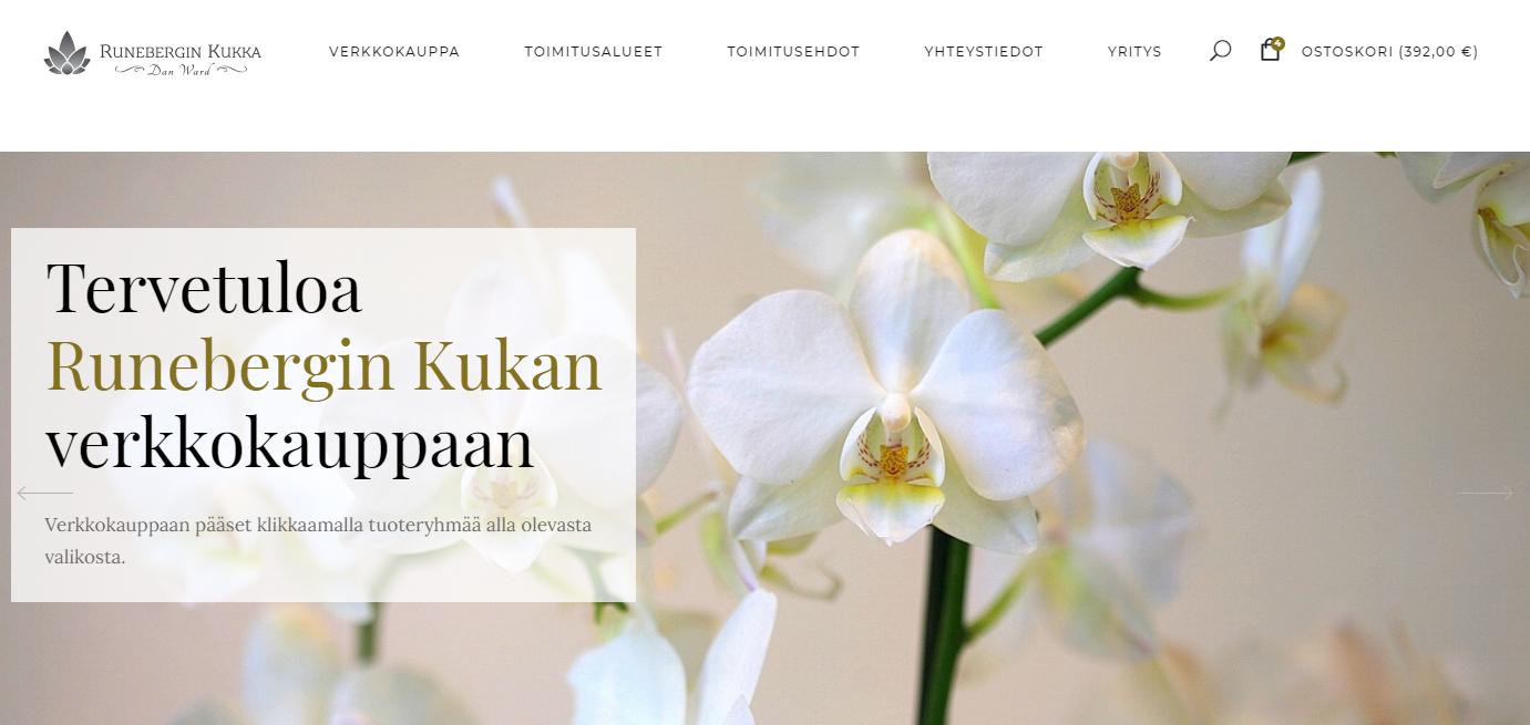 Runebergin Kukan verkkokauppa WooCommerce