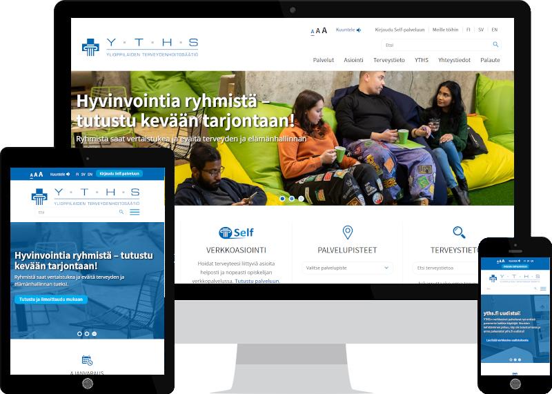 Uusi saavutettava verkkopalvelu YTHS:lle - kotisivujen suunnittelu Verkkovaraanilta