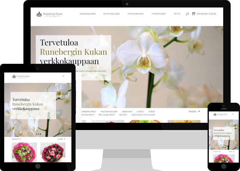 Verkkokaupparatkaisut Verkkovaraanilta - WooCommerce-kauppa Runebergin kukka